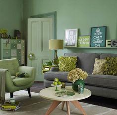 Salones en color verde