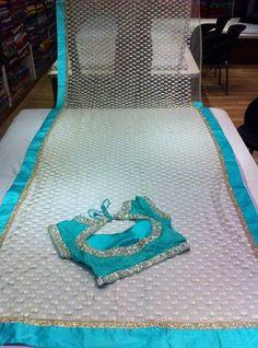 Colour is so beautiful Cotton Saree Designs, Blouse Designs Silk, Blouse Patterns, Fancy Sarees, Party Wear Sarees, Net Saree Blouse, Jute Silk Saree, Saree Embroidery Design, Stylish Blouse Design