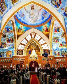 كنيسة مارمرقس ببورفؤاد .. بورسعيد St Mark church ...portsaid- Egypt Life In Egypt, Catholic Churches, Church Design, Religious Art, What Is Life About, Cathedrals, Pilgrimage, Jesus Christ, Scenery