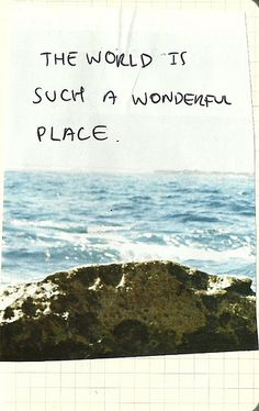 """Band of horses- ode to LRC""""""""the world is such a wonderful place"""""""" la di da"""