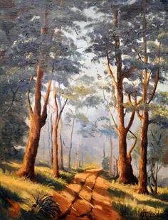 """CAMPO AYRES, O.S.T. """"Paisagem"""" , medidas 35 x 27 cm.CAMPINAS 1940. A.C.I.D"""