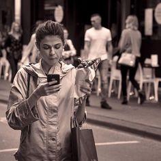 WhatsApp or Churros? #amsterdam #churros #monochrome #streetphotography #netherlands #sepia #streetlife Churros, Street Photography, Netherlands, Amsterdam, Monochrome, Photos, Instagram, Fashion, The Nederlands
