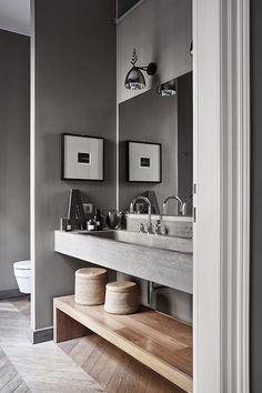 Home Interior Black .Home Interior Black Classic Bathroom, Modern Bathroom Decor, Grey Bathrooms, Bathroom Interior Design, Home Interior, Master Bathroom, Marble Bathrooms, Interior Colors, Interior Paint