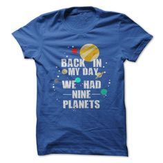 Were there nine planets in your day? Show everyone how much you miss that planet with this shirt!