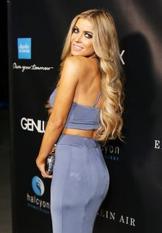 Carmen Electra arrives at the Genlux Fall 2015 issue release celebration held at Halcyon Dermatology on August 22, 2015 in Laguna Hills, California.