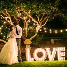 'Love' Marquee Letters