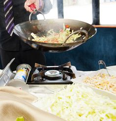 Wok specialty station on board!