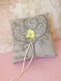 Personalized Wedding Ring Bearer Pillow by creations4brides, $29.00