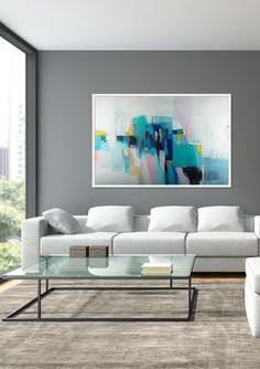 Abstract wall art, abstract painting, large Colorful art, acrylic painting, abstract art, canvas art, wall hanging by Camilo Mattis