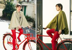 cyclestyle-tues-capes w/ highly reflective yarn/thread