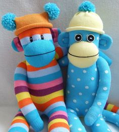 sock monkey togetherness! by sunsetgirl creations, via Flickr