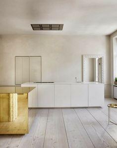 Lovenordic Design Blog: APARTMENT WITH BRASS CUBE