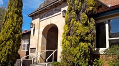 Original front entrance to Katoomba Hospital, now at rear as highway was relocated.