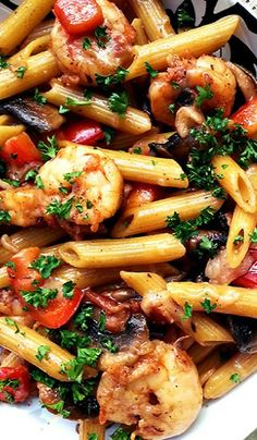 Skillet Toasted Penne with Cajun Shrimp
