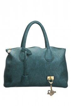 74ea535a9b3b Shoulder Bag with Gold Charms - Aqua Teal Buy Bags