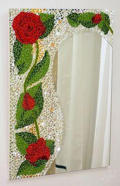 Mosaic Tile Art, Mosaic Artwork, Mirror Mosaic, Mosaic Diy, Mosaic Garden, Mosaic Crafts, Mosaic Projects, Mosaic Glass, Mosaics