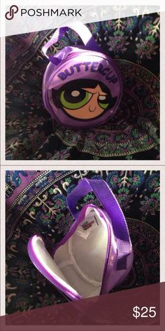 Buttercup Purple Pouch The Powerpuff Girls Vintage Cartoon Network Bags Mini Bags