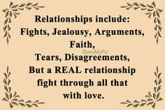 A Real Relationship Fight Through All That With Love.