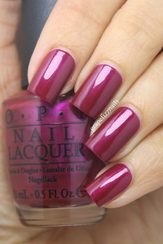 grape fizz nails: New OPI Nordic Collection for Fall/Winter 2014 entire page Fancy Nails, Cute Nails, Pretty Nails, Fabulous Nails, Gorgeous Nails, Amazing Nails, Nail Deco, Opi Nail Colors, Manicure Y Pedicure
