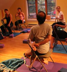 11 best iyengar yoga chair twists images  iyengar yoga