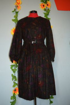 fab vintage 80s cute mohair dress hipster by jampops on Etsy