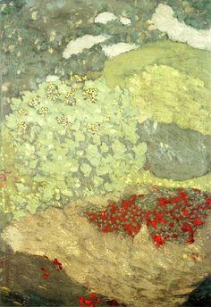 peinture française : Édouard Vuillard, 1899, végétation, vert pâle, 1890s
