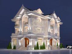 Page not found - Kiến trúc Roman Classic House Exterior, Classic House Design, Dream House Exterior, Modern House Design, New York Apartment Luxury, Millionaire Homes, House Outside Design, House Ceiling Design, Modern House Facades