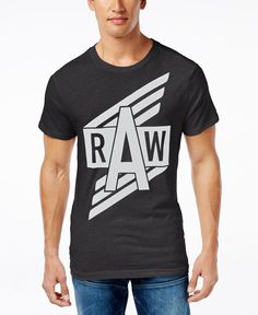 Istar Logotipo de Gstar Glay con hombre Camiseta de para mangas logo gráfico Gstar sin YgqCwg