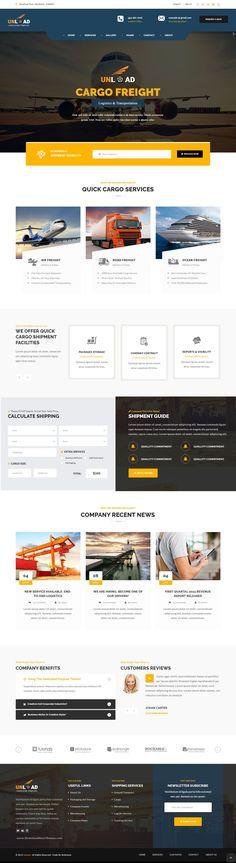 Unload - Cargo, Shipping, Warehouse & Transport HTML5 Responsive ...