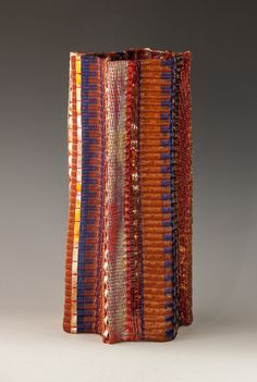 loom woven,copper wire, copper strip,textured & stranded wire, heat patina,17x8""