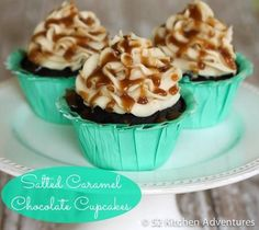Cupcake Recipes : Salted Caramel Chocolate Cupcakes