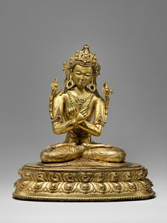 Vajradhara 14th/15th century Tibet Gilt copper alloy Height: 46 cm - 18 in