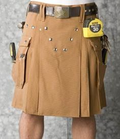Utility Kilt... Stylish Contractors #kilt