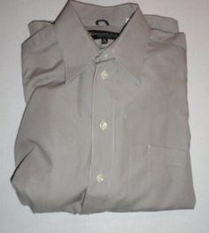 $23.99 Men's Kenneth Cole New York Button Down 100% Cotton Dress Shirt Size: 15