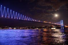 Bosphorus at Night... by ozguray.deviantart.com on @DeviantArt