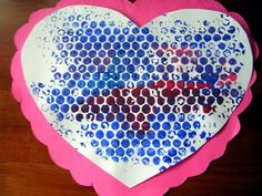 do the bubble wrap idea with red, white, pink and magenta paint.maybe with different paper colors too (PreK) Valentine Sensory, Valentines Games, Valentine Crafts For Kids, Valentines Day Activities, Happy Valentines Day, Valentine Cards, Toddler Painting Activities, Art Activities For Kids, Preschool Ideas