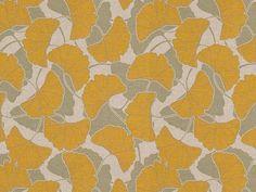 vintage ginkgo fabric