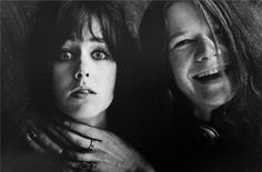 Grace Slick & Janis Joplin.  1967? I just love this!  I don't remember ever seeing this!