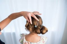 Low up-do hairstyle for kids