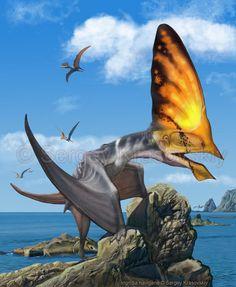 #PaleoArt #Pterosaur #illustration    Ingridia navigans    by ~atrox1 on @deviantART http://atrox1.deviantart.com/art/Ingridia-navigans-364324658 | Sergey Krasovskiy