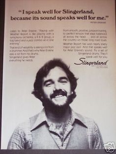 1979 Peter Erskine Weather Report Slingerland Drums Ad | eBay Peter Erskine, Vintage Drums, Weather Report, Drummers, Percussion, Print Ads, Vintage Prints, Ebay, Weather Forecast