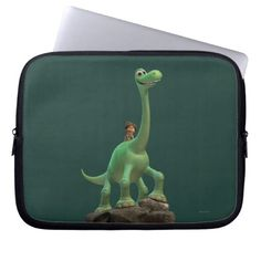 Spot And Arlo On Rock Laptop Sleeves