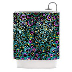 "Pom Graphic Design ""Peacock Tail"" Shower Curtain 