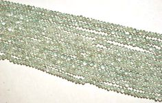 "2 Strand Aquamarine Faceted Rondelle 4-4.5mm Gemstone Beads 13.5"" Long  #luctsa #Faceted"
