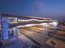 Los puentes peatonales @ Doha, Qatar cubrieron con los paneles de aluminio cubiertos del compuesto del franco del etalbond® del color de Elval