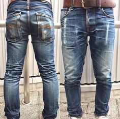Nudie Jeans, Denim Jeans Men, Levis, Blue Jeans, Denim Boots, Denim Outfit, Jeans And Boots, Raw Denim, Vintage Denim