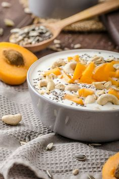 PaleoVegan Diet Yogurt recipe via @PaleoVeganDiet topped with nuts and apricots