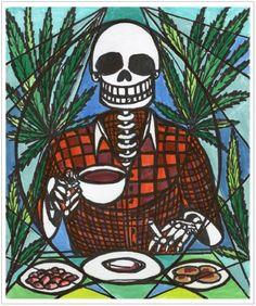 11x14 Hemp Breakfast Survivalist Muertos Skull Art Print Artisan Courtyard http://www.amazon.com/dp/B00KBSOILI/ref=cm_sw_r_pi_dp_Duckvb16GRMHD
