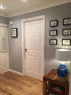 Dulux Chic Shadow is absolutely beautiful. I spent awhile trying to decide on a perfect grey for my hall and this certainly is perfect.
