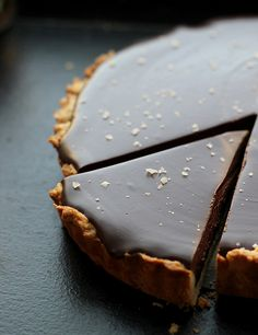 Chocolate-Caramel Tart with Sea Salt